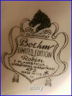 Boehm 472 ROBIN Porcelain Statue Edward Marshall Limited 11h Rare Vintage