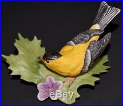 Boehm Goldfinch Porcelain Figurine #40467 1995 Rare Bird Statue