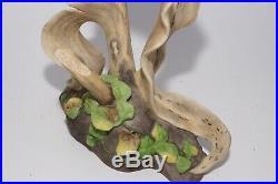 Boehm Porcelain Bobolink On Cornstalk 475 Bird Figurine Statue USA Vintage Mint