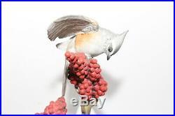Boehm Porcelain Tufted Titmouse Pair Bird Figurine Statue Vintage Misprinted 479