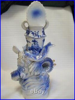 Buddha Statue Porcelain 13 Kwan-Yin Goddess Dehua With Phoenix And Dragon