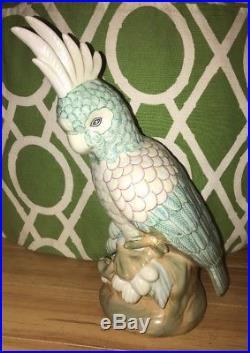 COCKATOO Bird Figurine Statue CARRINGTON COLLECTION 17 1/2 CERAMIC
