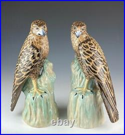 Chelsea House Porcelain Bird Statues Set of 2 12 Tall Vintage