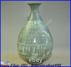 China Dynasty Korea Koryo Porcelain Glaze Crane bird Bottle Pot Vase Jar Statue