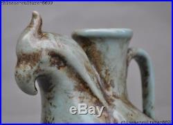 China dynasty old porcelain glaze bird Zun Cup Bottle Pot Vase Jar Statue