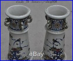China jingdezhen wucai porcelain phoenix bird flower statue Bottle Pot Vase Jar