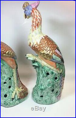Chinese Antique Porcelain Fenghuang Phoenix Figure Pair