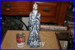Chinese Blue & White Porcelain Pottery Figure Statue Half Man Half Chicken