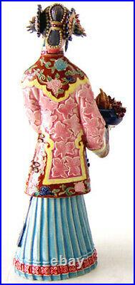 Chinese Ceramic Lady Figurine / Porcelain Dolls Figurine Birthday Celebration