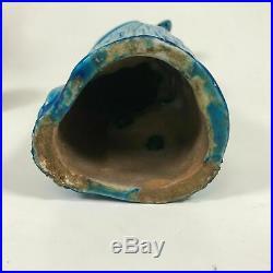 Chinese Export Turquoise Glazed Porcelain Parrot Parakeet Bird