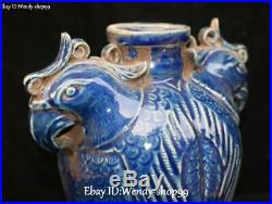 Chinese Old Color Porcelain Phoenix Phenix Fenghuang Bird Head Vase Bottle Jar