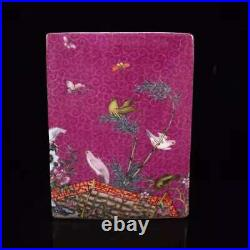 Chinese Porcelain Hand-made Exquisite Flowers & Birds Brush Pot 6580