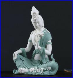 Chinese dehua Porcelain Pottery Avalokitesvara Guanyin Bodhisattva Buddha Statue
