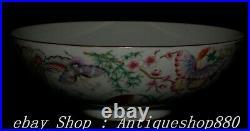 DaQing Year Marked Enamel Porcelain Gilt Butterfly Bird Flower Tree Bowl Bowls
