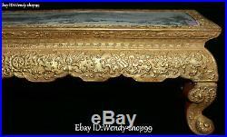 Enamel Color Porcelain Gold Gilt Magpie Bird Lotus Flower Pavilion Desk Table