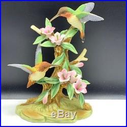 Ethan Allen figurine statue sculpture humming bird Japan 3223 hummingbird flower