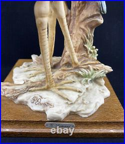 Giuseppe Armani Large Heron Statue. Hand Made in Italy