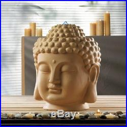 LARGE zen garden 18 Buddha head bird bath meditation yoga patio Fountain statue
