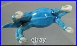 Lot 4 China Animals Brown & Turquoise Blue Porcelain Ducks & Horse 19-20th c