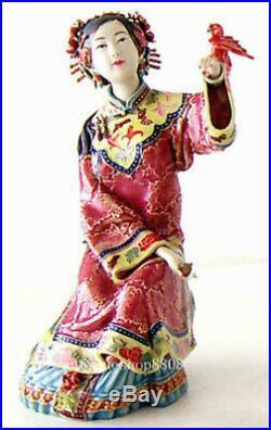 Master Chinese Porcelain / Ceramic Figurine Oriental Lady Bird