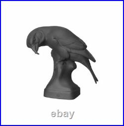 Nymphenburg Crossbill Bird Matt Black Bisque Porcelain Figurine NEW