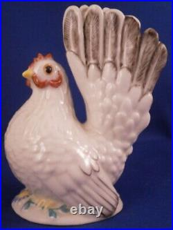 Nymphenburg Porcelain Female Chicken Hen Figure Figurine Porzellan Huhn Figur