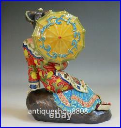 Oriental Chinese Ceramic Lady / Porcelain Dolls Figurine Spring Sunshine