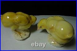 PAIR Porcelain Baby Chicks Karl Ens Volkstedt Bird Chicks Figurine Germany