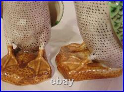 Pair Chinese Export Multi-Color Famille Rose Porcelain Ducks Figures 10