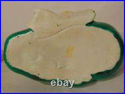 Pair Chinese Green Glazed Porcelain Ducks Figures