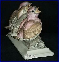 Porcelain BIRDS, Boehm, Fledgling Purple Finches, # 450, Vintage, figure, 8.25l