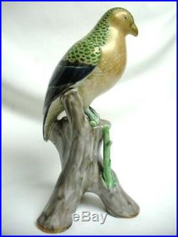 RARE Antique 11 3/8 Japanese Kutani Arita Porcelain Bird Figurine Statue 19th C