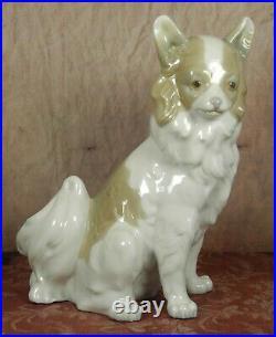 RARE Lladro Nao Long Haired Chihuahua Papillon Dog 20.5cm Spanish Figure/Statue