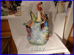 Rare Chinese Porcelain Eight Immortals Dragon Bird Heavy Gold 20 Statue Nr