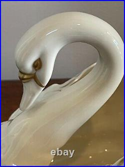 Rare Stunning Boehm signed 1950s early Large Porcelain Swan Sculpture Figurine