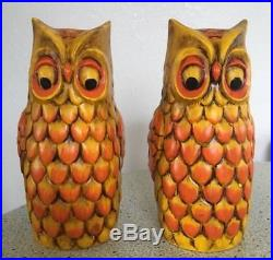 Rare Vintage Takahashi Mid Century Modern MCM Ceramic Owl 9 Statue