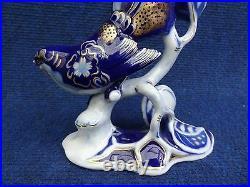Rosenthal figurine Bird with Blue and Gold fantasy decoration Heidenreich super