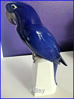 Royal Copenhagen B&G Sculpture Decorative Statue Porcelain Parrot Macaw 16
