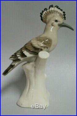 Royal Dux hoopoe bird figurine statue marked porcelain 3534 10