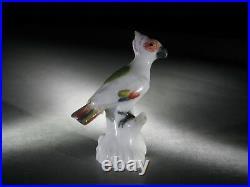 Small Meissen Porcelain Figure Of Bird On Branch, 19th Century