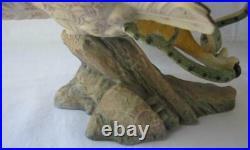 Spectacular Large Franklin Mint EAGLE OWL Porcelain Figurine COA McMonigle