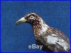 Starling Samson porcelain Bird statue of a Starling Sturnus Vulgaris