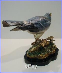 Statue Harrier Bird Wildlife Art Deco Style Art Nouveau Style Porcelain Bronze F