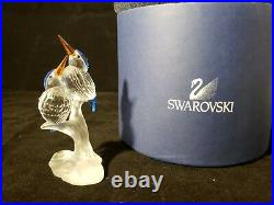 Swarovski MINT Crystal MALACHITE KINGFISHERS Birds Figurine COA 623323 RARE