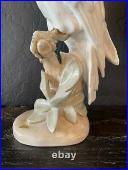 Vintage 16 Royal Dux Cockatoo Parrot Porcelain Statue Czechoslovakia Czech