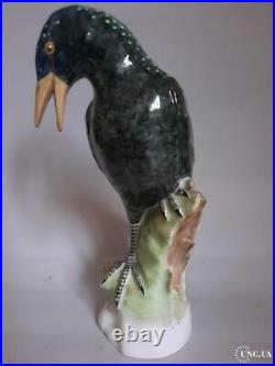 Vintage 1940s Porcelain Statue Bird Figure Figurine KPM Signed Germany Hand Art