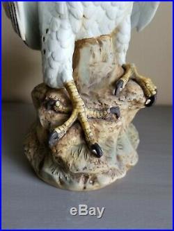Vintage Andrea by Sadek Gyrfalcon Bird Porcelain Figurine Statue