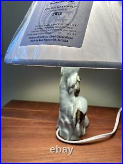 Vintage Chinese Celadon Crane Porcelain lamp