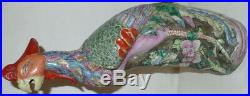 Vintage Chinese Famille Rose Ceramic/Porcelain Phoenix Bird Statue/Figurine