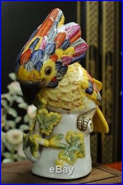 Vintage Chinese Porcelain Bird Statue Figurine Sculpture